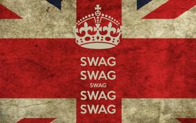 Надпись swag и флаг