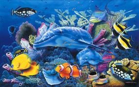 Дельфины в аквариуме