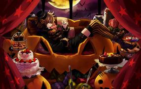 Girl on Halloween