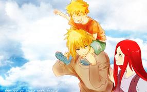 Ребенок на плечах отца