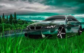 Кристальный BMW M3
