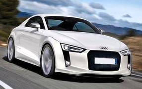 Красивый автомобиль Audi TT 2014