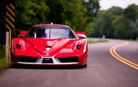 Red car Ferrari