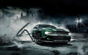 Авто монстр Mustang