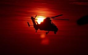 Силуэт вертолета