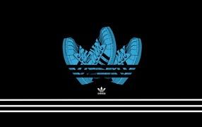 Adidas on a black background