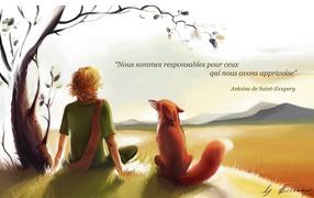 Маленький принц с лисом
