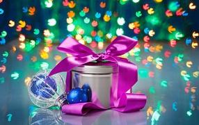 Подарок боке на рождество