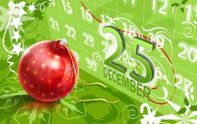 On the Christmas calendar