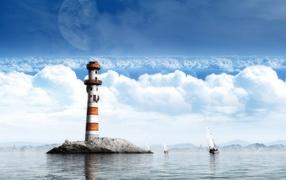 Dreamy watch tower world