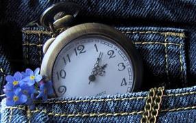 Watch in jeans
