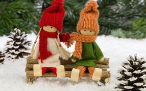 dolls winter forest