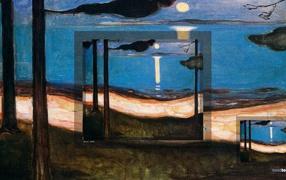 Картина Эдварда Мунка - Луна
