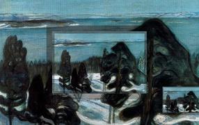 Картина Эдварда Мунка - Символическое зимняя ночь