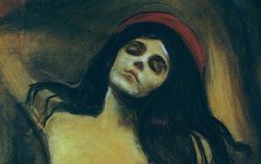 Картина Эдварда Мунка - Женщина спит
