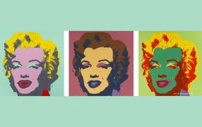 Картина Энди Уорхола три головы