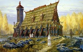 Славянский храм хорса