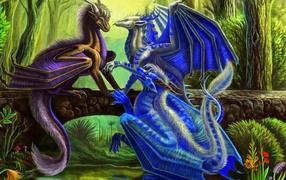Три синих дракона