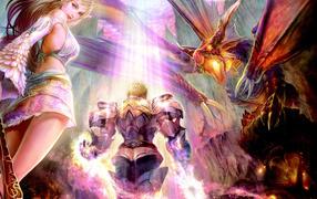 Фея рыцарь и дракон