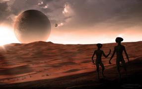 Инопланетяне на марсе