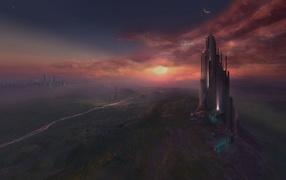 The fantastic landscape of the planet