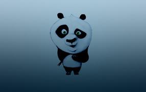 Кунг-фу панда с палочками