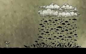 Дождь из зонтов