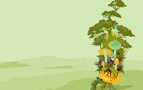 Растительность на крабе