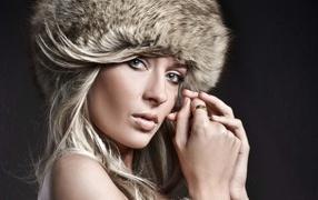 Girl in a fur hat