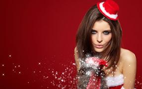 Девушка во красной шляпке