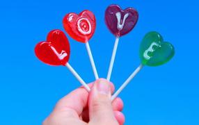 Lollipops Valentine's Day February 14