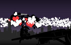Lovers on Valentine's day