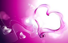 Розовая музыка любви