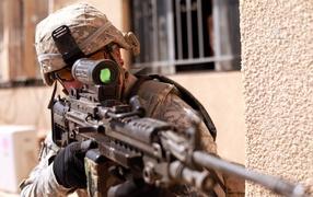 Sniper takes aim