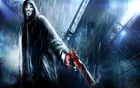 Анонимус с пистолетом