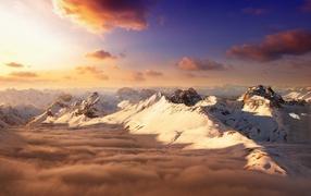 Горы выше облаков