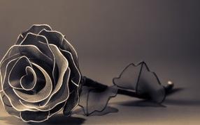 Роза из фатина