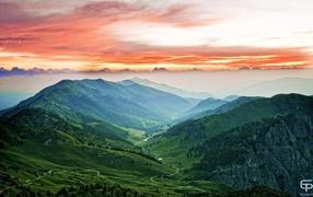 Mountain landscape Italy