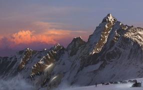 Оленьи упряжки в горах
