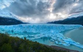 Mountain glacier in Argentina