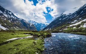 Горная река в Норвегии