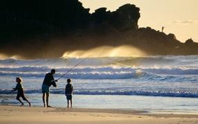 Рыбалка во время шторма