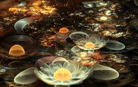 Абстрактные лилии и цветы