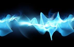 Голубое Космическое свечение