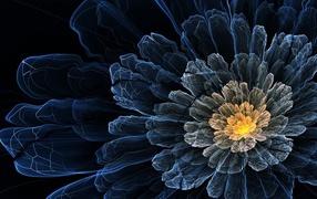 Компьютерный цветок