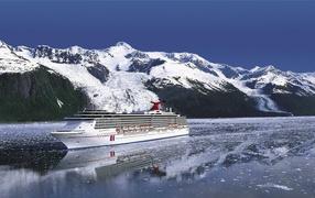 The cruise ships in Alaska