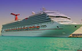 Cruise ship at berth