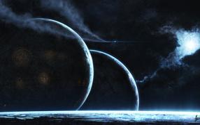 Планеты и туманность