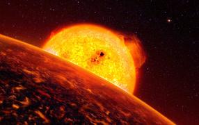 Планета близко от солнца