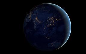 Земля на ночной стороне